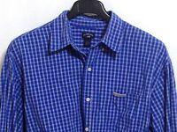 U.S. POLO ASSN. Men's Size XL Blue White Check 100% Cotton Long Sleeve Shirt