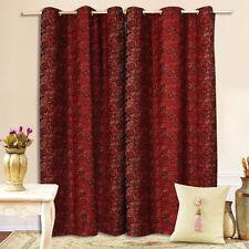 A Pair Gorgeous Chenille Eyelet Curtains 2x140cmx213cm Drop.AC215
