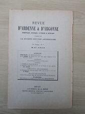 Revue d'Ardenne & d'Argonne 05/1900. N°7 Delaw ou Deleau 2 dessins Rethel Fabert