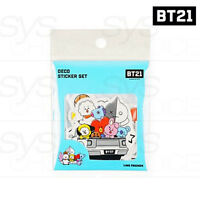 BTS BT21 Official Authentic Goods Deco Sticker Set by Kumhong Fancy +Tracking Nu