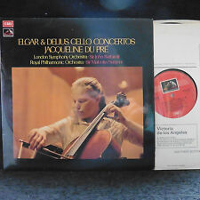 ASD 2764 - JACQUELINE DU PRE LP UK Elgar & Delius Concertos Barbirolli EX/EX+