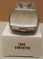 1984 84 SILVER CHEVY CORVETTE VETTE DEALER NOS AMT MPC PROMO PROMOTIONAL