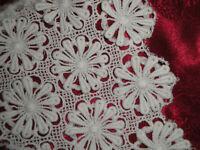 inserti in pizzo puro cotone da abito sposa Alta Moda vintage, incompiuto cucito