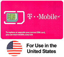 Preloaded T-Mobile SIM Card with Prepaid Plan $40 10GB 4G LTE 30 Days / 1 Month