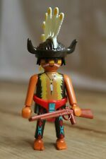 Playmobil Native American Chief Figure, Feather and Buffalo Head-Dress