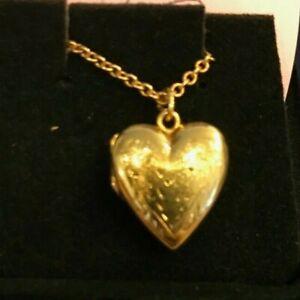 14K YELLOW GOLD BABY HEART LOCKET