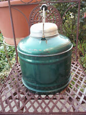 VINTAGE GREEN 1 GALLON WATER JUG PORCELAIN CERAMIC LINED W/WOOD HANDLE
