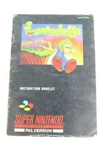 Lemmings Manual Super Nintendo SNSP-LE-UKV