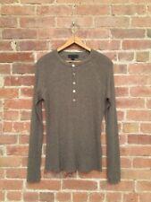 Burberry Prorsum 100% Cashmere Henley Sweater Size Medium Slim