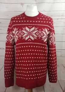 Abercrombie & Fitch Fairisle style Christmas Jumper Sweater Wool Blend Size XL