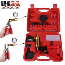 Hand Held Car Vacuum Pressure Pump Tester Set Brake Fluid Bleeder Kit