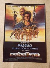 carte postale cinéma film Mad Max Mel Gibson Tina Turner