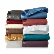 Concierge Signature Collection Down Alternative Blanket with satin trim