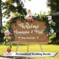 Personalised Wedding Frame Board Custom Welcome Decor Mirror Sticker Vinyl Decal