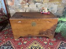Vintage Chinese Carved Camphor Wood Chest-Coffee Table-Trunk-Blanket Box~Large