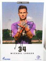 Michael Langer + Autogrammkarte 2018/2019 + FC Schalke 04 + AK201978 +