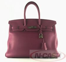 BIG SALE! AUTHENTIC $11900 HERMES Tosca Clemence Birkin 35 Bag