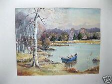 Aquarell Vor-Alpenlandschaft Signiert Kaspar, um 1920, detailreiches Gemälde