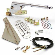 Floor Mnt E-Brake HandleTan Boot, Chr Ring, Cable Kit, GM Clevis  ASC7AE1D