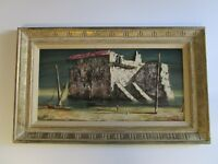 ABRUZZI PAINTING MID CENTURY MODERN  ABSTRACT EXPRESSIONISM SURREALISM VINTAGE