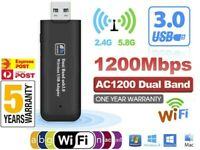 NEW 1200Mbps USB 3 Wireless WiFi Network Receiver Adapter 5GHz Dual Band Dongle