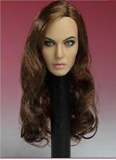 Custom Angelina Jolie 1/6 Head Sculpt for Hottoys Kumik Female Body Maleficent