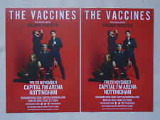 "THE VACCINES Live ""English Graffiti"" 2015 UK Arena Tour Promo tour flyers x 2"
