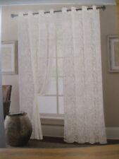 Tenda finestra casa arredamento anelli, pizzo bianco, Angela, cm 140 xh.280