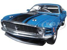 1970 FORD MUSTANG BOSS 302 DARK AQUA METALLIC W/ BLACK STRIPES 1/24 M2 40300-48B