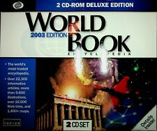 World Book Version 7 2 Disc  set 2003 Deluxe Ed CD New Unopened