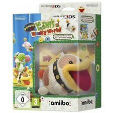 Poochy and Yoshis Woolly World With Amiibo Character Bundle Nintendo 3ds Game