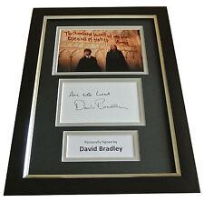 David Bradley Signed A4 FRAMED Photo Autograph Display Harry Potter Filch & COA