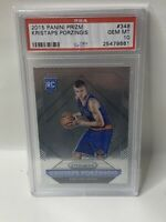 🔥2015-16 Panini Prizm KRISTAPS PORZINGIS #348 Rookie RC PSA 10 Dallas Mavericks