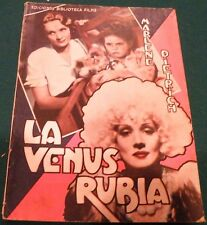 Blonde Venus (1932) Marlene Dietrich  Movie French  Photoplay 72 pages