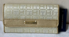 NEW! TOMMY HILFIGER GOLD YELLOW CHECKBOOK CLUTCH PURSE WALLET PURSE SALE