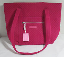Vera Bradley Women Purse Shoulder Bag ICONIC SMALL VERA TOTE PASSION PINK
