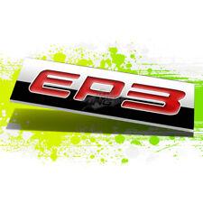 METAL 3D PLATE EMBLEM DECAL LOGO TRIM BADGE POLISHED RED EP3 LETTERING TEXT