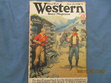 "WESTERN STORY MAGAZINE "" Pulp Mag.  JAN.  18,1930   STREET & SMITH  PUBLICATION"