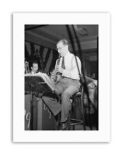 Music Clarinetto Jazz Benny Goodman USA POSTER VINTAGE MUSIC STAMPE SU TELA ART