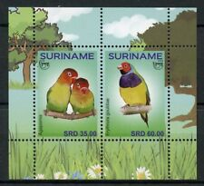 Suriname 2018 MNH UPAEP Pets Birds Lovebirds 2v M/S Parrots Bird Stamps