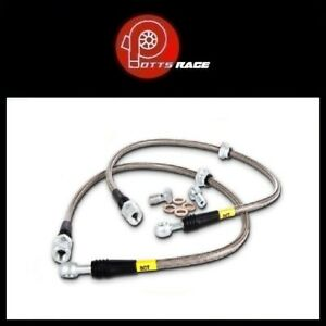 StopTech Fits Mercedes C/E/SLK Series Braided Front Brake Lines Stainless Steel