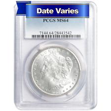 1878 to 1904 $1 Morgan Silver Dollar PCGS MS64 Random Year
