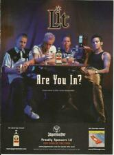 Are You In? Lit/Jagermeister '99 print magazine ad.
