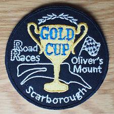 Motorcycle Biker Cloth Patch Leathers Vest Denim GOLD CUP ROAD RACES SCARBOROUGH