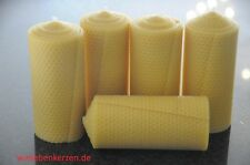 5 x Bees Wax Candles XXL 100% BEES WAX CANDLES 150 x 65mm Handmade from D