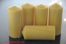 5x Velas Cera de abeja XXL 100% 150 x 65mm hecho a mano AUS D