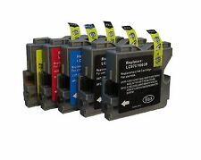 5 Cartouches D'Encre Compatible avec Brother DCP130C DCP135C DCP150C MFC235C