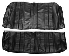 1966 Chevelle SS396 SuperSport Coupe Rear Seat Covers Black PUI 66AS10C (IN STK)
