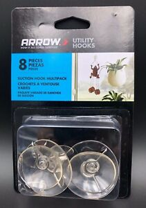 Arrow Suction Cup Hook Multipack 8 Pieces New