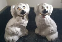 Vintage Pair Royal Doulton Staffordshire King Charles Spaniel Dogs Figures